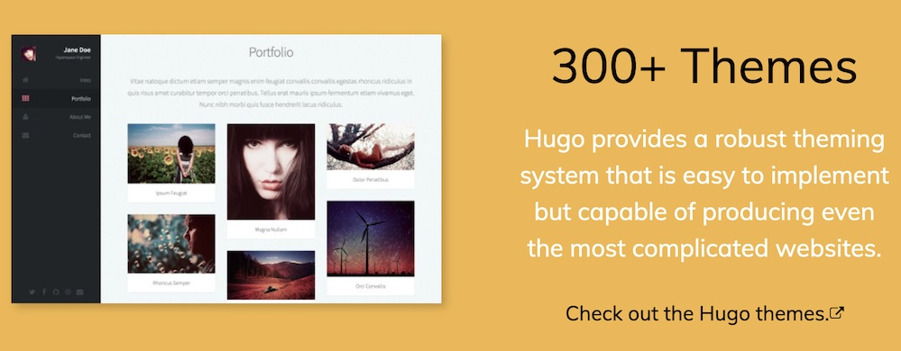 image from 有哪些好看的Hugo主题?Hugo框架主题选那个? Github的star数量告诉您